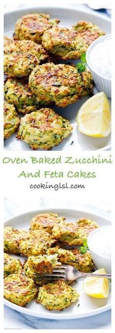Oven Baked Zucchini And Feta Fritters - so light, simple to make and very addictive. Healthy and delicious, family favorite. Oven Baked Zucchini And Feta Fritters - so light, simple to make and very addictive. Healthy and delicious, family favorite. Veggie Recipes, Diet Recipes, Cooking Recipes, Recipes Dinner, Low Fat Vegetarian Recipes, Catering Recipes, Feta Cheese Recipes, Curry Recipes, Greek Recipes