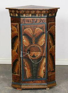 Swedish folk art cabinet
