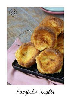 Aprenda a fazer a receita de deliciosa de Pãozinho Inglês. Receitas de café da manhã para fazer em casa. Como fazer café da manhã com pãozinho inglês. Receita de pãozinho.