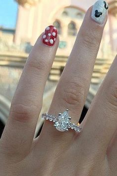 """27 Disney Proposal Ideas For Your Fairy Tale ❤️ Disney proposal ideas are always cute, romantic and sometimes playful. Doesn't matter which idea will you choose - she will totally say """"Yes! Disney Engagement Rings, Pear Cut Engagement Rings, Classic Engagement Rings, Solitaire Engagement, Mickey Disney, Disney Belle, Ariel Disney, Pedicure, Ring For Boyfriend"""