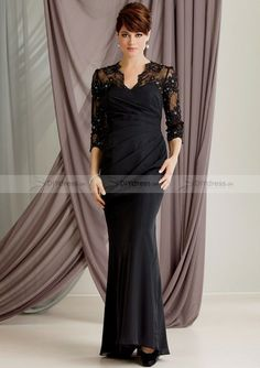 Lace Prom Dress, Mother of bride dress