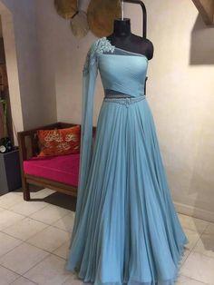 Latest Exclusive Designer Bridal Lehenga Choli in 2020 Indian Fashion Dresses, Indian Gowns Dresses, Dress Indian Style, Indian Designer Outfits, Designer Bridal Lehenga, Bridal Lehenga Choli, Net Lehenga, Blue Lehenga, Lehenga Gown