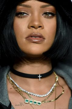 "Rihanna at ""Fenty x Puma"" fashion Show, in New York. (12th February 2016) *close up*"