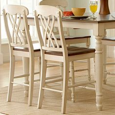 ETHAN HOME Mackenzie Antique Counter-height Chairs (Set of 2) | Overstock.com