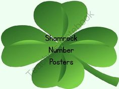 St. Patrick's Day Giveaway - Enter for your chance to win a full page set of shamrock number posters.  These would be a great addition to my shamrock number flashcards and my shamrock number word flashcards..  A GIVEAWAY promotion for Shamrock Four Leaf Clover Full Page Number Posters 0-100 from My Kinder Garden on TeachersNotebook.com (ends on 3-8-2014)
