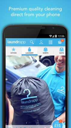 Download Laundrapp for door-to-door dry cleaning and laundry service - and share with your friends to get £10 off too!