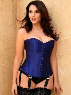 Plus Size Lingerie   Plus Size Corsets & Bustiers   Bronwyn Steel Boned Silk Corset   Hips & Curves