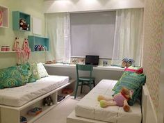 dicas de decoração Dream Home Design, Home Interior Design, House Design, Boy And Girl Shared Bedroom, Kids Bedroom, Old Room, Room Decor, Furniture, Tiny Bedroom Design