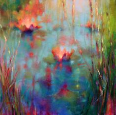 Donna Young (American, based Pacific Northwest, USA) - Water Lilies, 2012  Paintings: Oil on Canvas