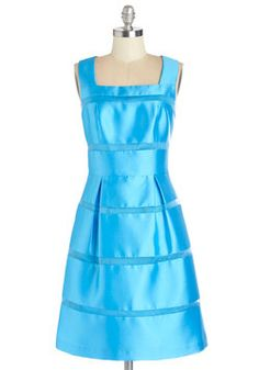 Azure the One for Me Dress. Of all the dresses inside your closet, youve got your heart set on this blue number. #blue #prom #wedding #bridesmaid #modcloth