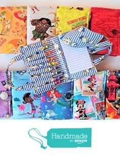 Children's Crayon Notebook,Quilted Bag Set,Your Choice of Simba and Nala,Donkey Kong,Donald and Daisy Duck,Disney Moana,Ariel Mermaid,Minnie Mouse, Princess Sofia,Doc McStuffins or Dalmation from BobbinAround4U https://www.amazon.com/dp/B06XNWQS3T/ref=hnd_sw_r_pi_dp_CZ-6ybKQS01ZA #handmadeatamazon