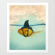 Art Print featuring Brilliant DISGUISE by Vin Zzep