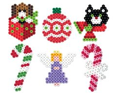 This set of holiday designs brings all the festive cheer of the season. Use for ornaments on your tree or tie to a wreath or garland. A fun family activity with Perler Beads!