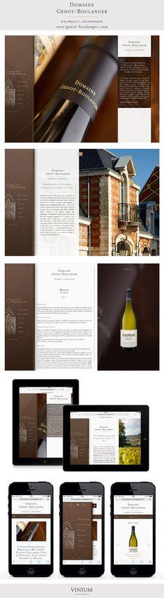 Sur l'un des plus beaux terroirs de la Côte viticole bourguignonne, le domaine Génot-Boulanger élabore des vins élégants, plein de complexité et de finesse . Venez découvrir l'univers de ce domaine familiale à travers leur tout nouveau site vitrine créé par Vinium : www.genot-boulanger.com #webdesign #luxury #wine #bourgogne