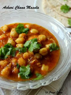 Achaari Chana Masala - Chickpeas #curry made pickled spices!
