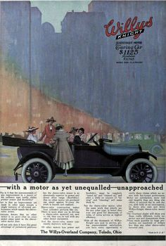 1916 Vintage Advert - Willys Knight Touring Motor Car | Flickr - Photo Sharing!