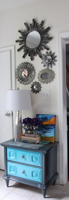 Sunburst mirror collage via FiveElevenDecor: Lucketts & Leesburg Oct - 2012