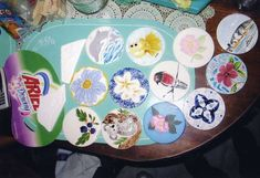 Her ceramic coasters.
