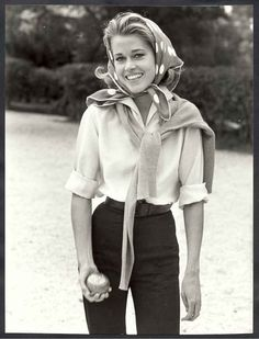Jane Fonda playing bocce