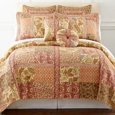 Home Expressions Jacobean Stripe Quilt And Accessories