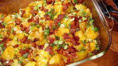 Loaded Baked Potato And Chicken Casserole Recipe - Food.com, SO GOOD!