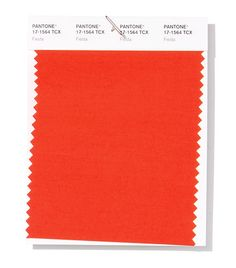 """KS- PANTONE color for spring/summer Fiesta. It is described as """"A festive orange red, Fiesta radiates energy, passion and excitement. The two color pallets they have focused on for the upcoming season is """"Cravings"""" and """"Classico"""". Fashion Colours, Colorful Fashion, Spring Tops, Spring Summer, Paleta Pantone, Interior House Colors, Interior Design, Interior Modern, Ny Fashion Week"""