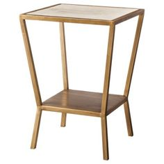 Threshold™ Faux Shell Inlay Square Accent Table - Cream/ Gold