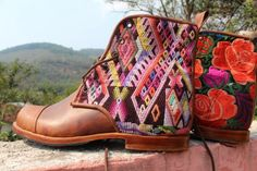 Custom boots designed by YOU and handmade in Guatemala - Teysha Guate Boots connect you to traditional Latin American artisans and their culture. $200