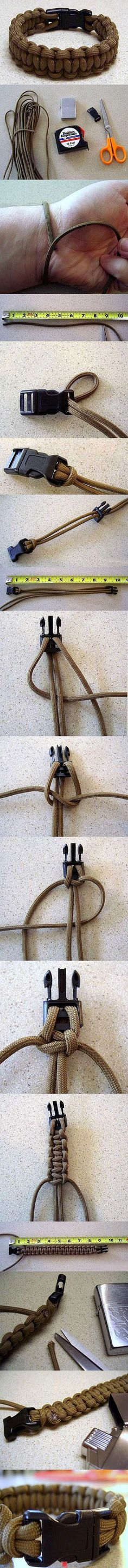 How to make a survival bracelet.