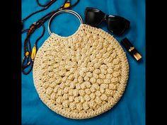 Crochet sac a main fleur - YouTube Popcorn Bags, Knit Crochet, Crochet Bags, Straw Bag, Make It Yourself, Knitting, Couture, Beauty, Totes
