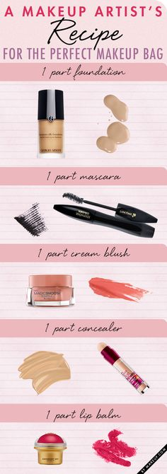 A make-up artist's recipe for the PERFECT MAKEUP BAG ❤