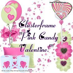 Pink Candy Valentine   Clusterframe