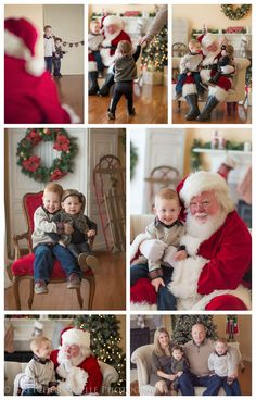 Christmas Sessions Part 1 - Santa Claus Mini Sessions Pictures With Santa, Family Christmas Pictures, Christmas Pics, Holiday Pictures, Family Photos, Xmas, Santa Claus Photography, Christmas Photography, Winter Photoshoots