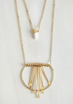 Hello to Charms Necklace. Greet your gal pals at the box office bedecked in this brilliant, boho-inspired necklace! #gold #modcloth