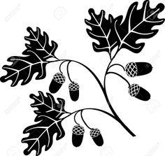 previews.123rf.com images alexshebanov alexshebanov0712 alexshebanov071200090 2174574-oak-floral-style-tree-vector-Stock-Photo-acorn.jpg