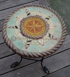 Lighthouse Rope Nautical Table at everythingnautical.com