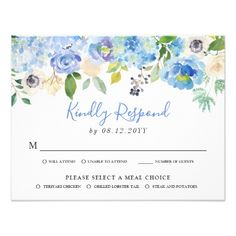 Shop Watercolor Blue Hydrangeas Floral Baby Prediction Enclosure Card created by misstallulah. Personalize it with photos & text or purchase as is! Recipe Card Sizes, Recipe Cards, Baby Prediction Cards, Blue Hydrangea, Hydrangeas, Wedding Response Cards, Bloom, Baby Shower Winter, Baby Shower Cards