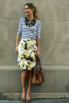 print mixing...and I'm looking for the perfect Cassie skirt to do this with