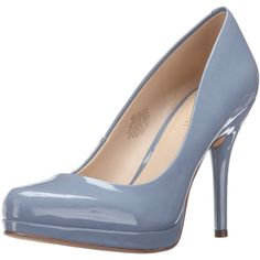 Nine West Women's Kristal Patent Dress Pump ($50) ❤ liked on Polyvore featuring shoes, pumps, nine west shoes, nine west pumps, nine west, patent pumps and patent leather shoes
