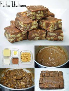 PALHA ITALIANA, FAZ UM ENORME SUCESSO COM AS VENDAS!!!! A deliciosa combinação do brigadeiro com a crocância do biscoito Maizena. Dá vontade de comer sem parar!! Ingredientes: – 1 caixinha (ou lata) de leite condensado (395g) – 2 colheres (sopa) de creme de leite – 2 colheres (sopa) de manteiga – 2 colheres (sopa) de …