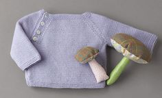 Book Baby 70 Autumn / Winter | 7: Baby Sweater | Light lilac