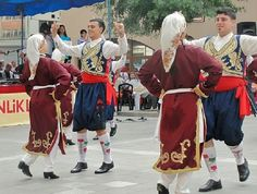 Traditional festive costumes from Cyprus.  1900-1950.  These are recent workshop-made copies, as worn by folk dance groups.