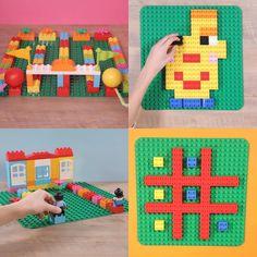 Lego Duplo Games, Lego Activities, Toddler Activities, Lego Duplo Animals, Lego Board Game, Lego Boards, Board Games, Legos, Lego Therapy