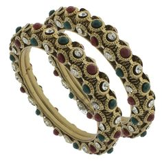 The MOMINA BANGLES  by Indiatrend. Shop Now at WWW.INDIATRENDSHOP.COM