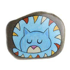 Tabby cat, cat in love, painted rock, painted cat, hanging stone Painted Rock Animals, Painted Rocks Craft, Hand Painted Rocks, Rock Painting Patterns, Rock Painting Ideas Easy, Rock Painting Designs, Pebble Painting, Love Painting, Pebble Art