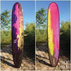 Longboard Noserider by Hage Surfboards & Designs - singlefin / resintint