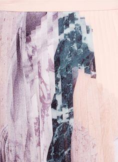 MO&CO. EDITION 10 - Plissé pleat marble print skirt - on SALE   Pink Maxi Skirts   Womenswear   Lane Crawford - Shop Designer Brands Online