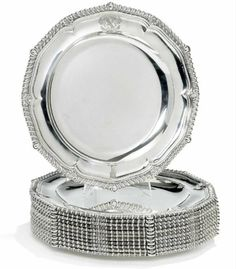 Paul Storr a set of 12 sterling silver dinner plates  sc 1 st  Pinterest & TIFFANY u0026 CO. Set of Twelve Sterling Silver Dinner Plates | For My ...