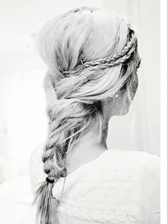Braid smaller braids into a larger one for a touch of detail