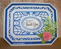 Ann Greenspan's Crafts: Ornate Pierced Rectangles Thank You